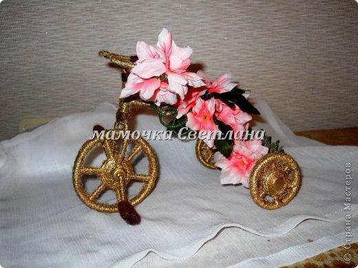 Цветочный велосипед фото 1