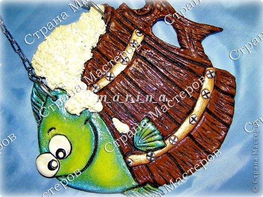 Поделка изделие День рождения Лепка Хмельная рыбка Клей Краска Проволока Тесто соленое фото 4