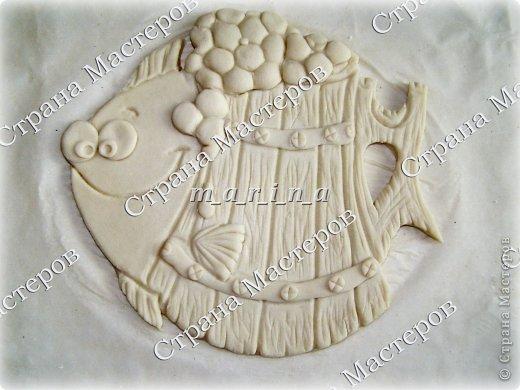 Поделка изделие День рождения Лепка Хмельная рыбка Клей Краска Проволока Тесто соленое фото 2