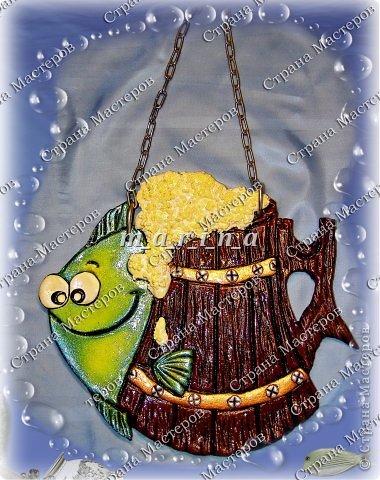 Поделка изделие День рождения Лепка Хмельная рыбка Клей Краска Проволока Тесто соленое фото 1