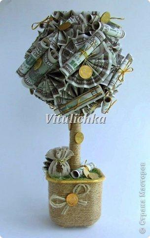 Топиарий денежное дерево своими руками из купюр