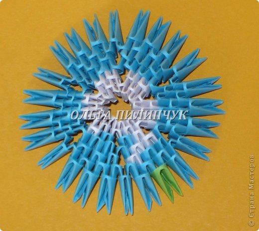 Для глобуса понадобится всего - 1063 треугольных модулей. синих - 722 модуля зелёных - 304 модуля белых - 37 модулей фото 10
