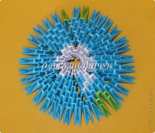 Для глобуса понадобится всего - 1063 треугольных модулей. синих - 722 модуля зелёных - 304 модуля белых - 37 модулей фото 12