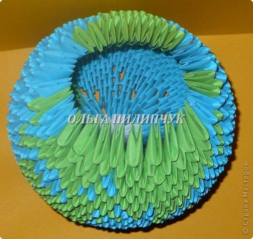 Для глобуса понадобится всего -  1063 треугольных модулей. синих - 722 модуля зелёных - 304 модуля белых - 37 модулей  фото 25