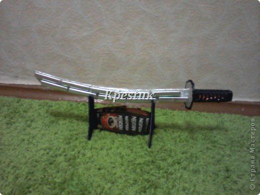 Сегодня у меня создался вот такой самурайский меч. Попробую сделать не большой МК, сразу прошу прощения за качество фото (телефон) фото 10