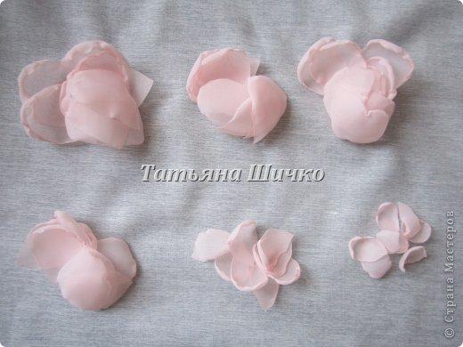 МК розы из капрона фото 4