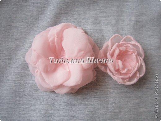 МК розы из капрона фото 7