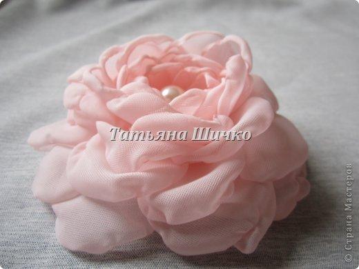 МК розы из капрона фото 1