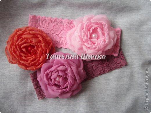 МК розы из капрона фото 12