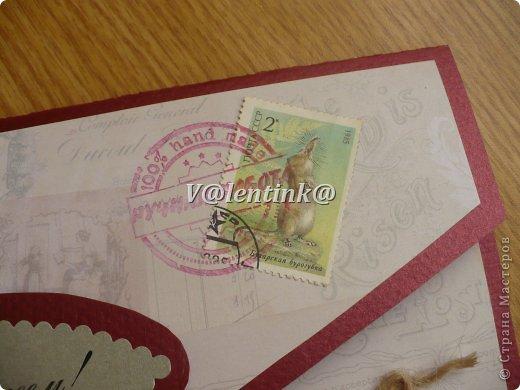 Открытка - конверт для денежного подарка и большого поздравления (формата А4). Размер готовой открытки 13 на 24 см. Это подарок на 60 летний юбилей коллеге, альпинисту, парапланиристу, туристу и исполнителю песен под гитару. фото 4