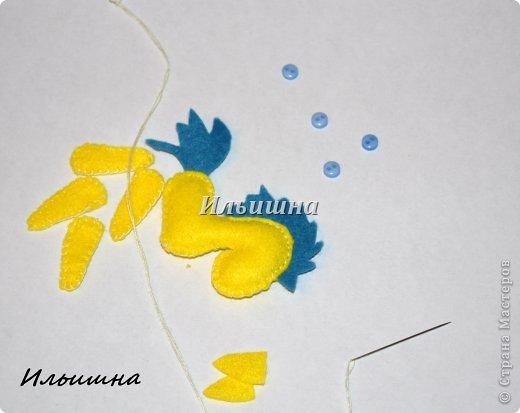 Мастер-класс Поделка изделие Новый год Шитьё Лошадки-малышки из фетра + МК Фетр фото 14