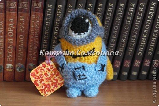 Игрушка Мастер-класс Вязание спицами МК по вязанию миньонов спицами Пряжа фото 24