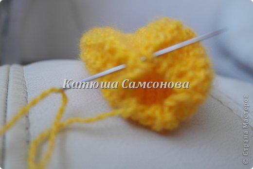 Игрушка Мастер-класс Вязание спицами МК по вязанию миньонов спицами Пряжа фото 8