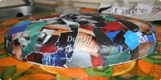 Мастер-класс Поделка изделие День рождения Папье-маше Мраморная чаша_утолщение стенок Бумага фото 9