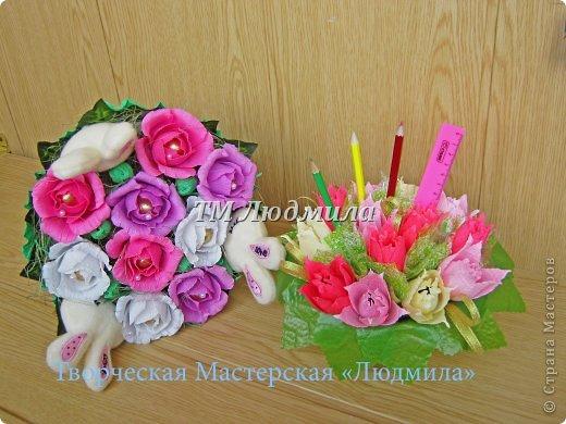 Букет для любимой жены заказ мужчина на годовщину. фото 8