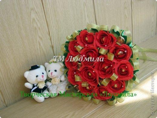 Букет для любимой жены заказ мужчина на годовщину. фото 2