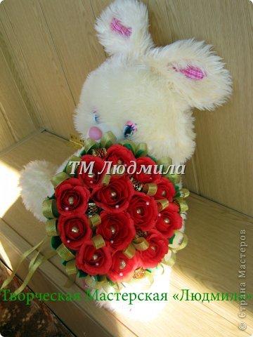 Букет для любимой жены заказ мужчина на годовщину. фото 1