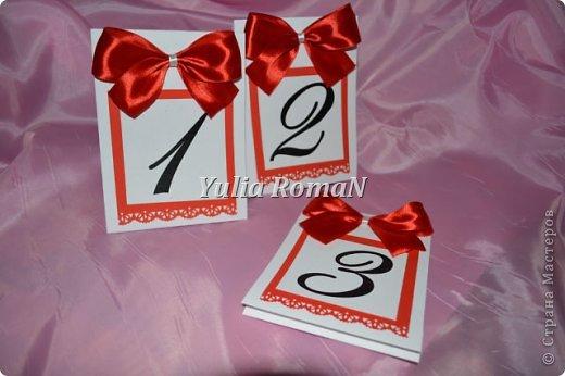 Добрый день жители Страны Мастеров!!! Вот такой небольшой комплект свадебных штучек в красном цвете довелось сделать. фото 2