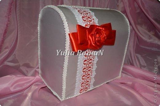 Добрый день жители Страны Мастеров!!! Вот такой небольшой комплект свадебных штучек в красном цвете довелось сделать. фото 3