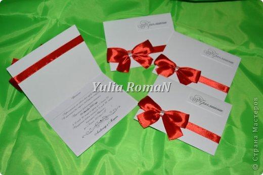 Добрый день жители Страны Мастеров!!! Вот такой небольшой комплект свадебных штучек в красном цвете довелось сделать. фото 1