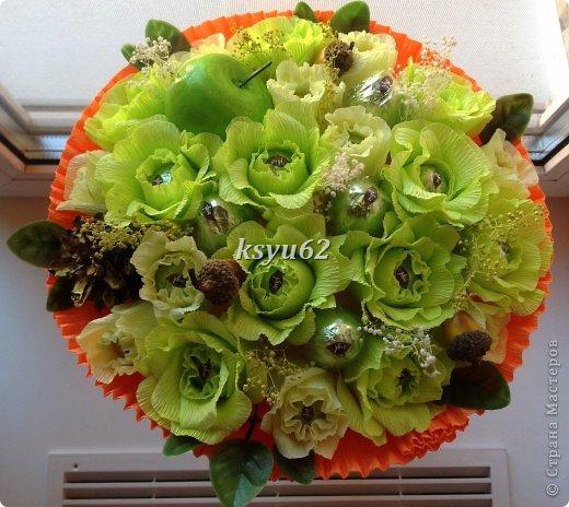 """Добрый день! Хочу показать Вам новый букет. Использованы конфетки """"Nue"""", сухоцветы, желуди с искуственной основой и натуральной шляпкой и, нелюбимые мной, искуственные листья.   фото 7"""