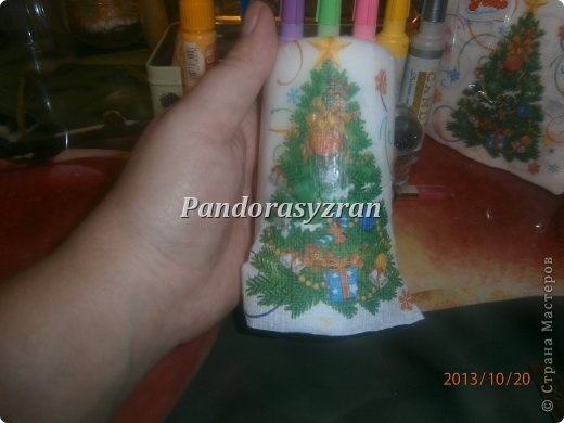 Декупаж салфетками на свечах, путём припаивания горячей ложкой. фото 8