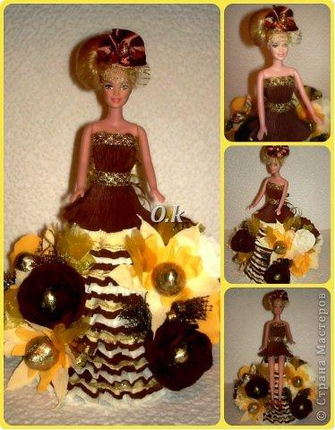 Всем привет, девочки! Я сегодня с новой куклой, самой любимой. На платье 13 конфет, розы и ваниль.  фото 1