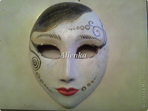 Маски Мастер-класс Папье-маше МК венецианская маска Бумага Клей фото 3