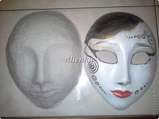 Маски Мастер-класс Папье-маше МК венецианская маска Бумага Клей фото 8