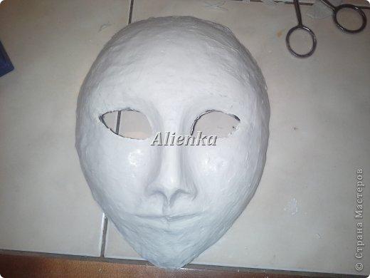 Маски Мастер-класс Папье-маше МК венецианская маска Бумага Клей фото 10