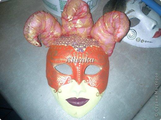 Маски Мастер-класс Папье-маше МК венецианская маска Бумага Клей фото 15