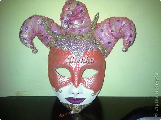 Маски Мастер-класс Папье-маше МК венецианская маска Бумага Клей фото 16