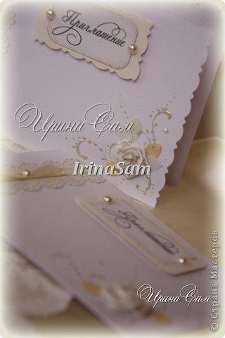 Мои новые открыточки, тема как всегда свадебная) Решила сделать пригласительные на девичник... фото 4
