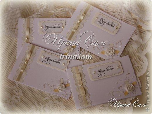 Мои новые открыточки, тема как всегда свадебная) Решила сделать пригласительные на девичник... фото 3