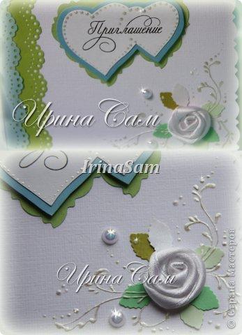 Мои новые открыточки, тема как всегда свадебная) Решила сделать пригласительные на девичник... фото 6