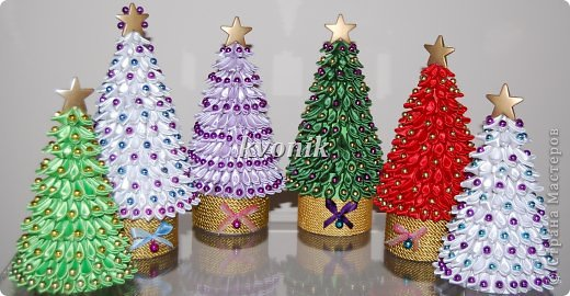 Новогодние украшения из атласных лент своими руками