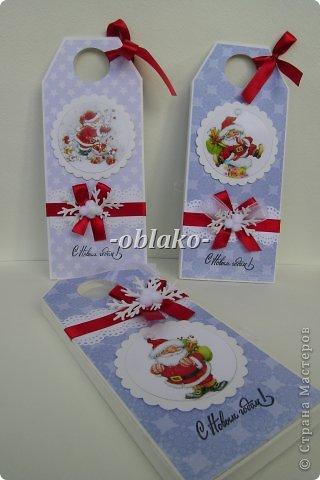 Скрапбукинг Новый год Новогодние шоколадницы+схема Бумага Картон Ленты фото 1