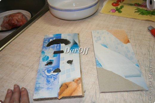 Декор предметов Мастер-класс Скрапбукинг Аппликация Приблуда для записей на холодильник_МК Бумага фото 3