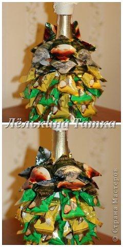 ну вот и я попыталась сделать новогодние елочки.  фото 16