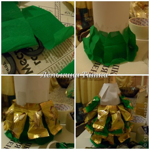ну вот и я попыталась сделать новогодние елочки.  фото 12