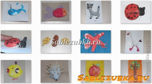 Поделки из соленого теста, которые сделала дочь (3 года -3 года и 4 мес.) без меня. Все фото тут: http://sablezubka.ru/podelki_dlya_detei_iz_solenogo_testa_raboty_docheri/