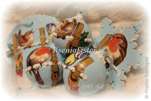 """Набор ёлочных игрушек """"птички"""" фото 1"""