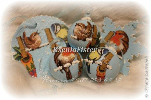 """Набор ёлочных игрушек """"птички"""" фото 2"""