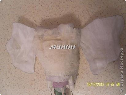 Мастер-класс Папье-маше МК по слону Бумага газетная Гипс фото 4