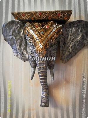 Мастер-класс Поделка изделие Папье-маше МК по слону Бумага газетная Гипс фото 1