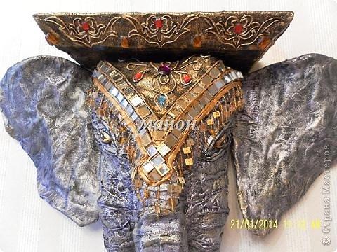 Мастер-класс Папье-маше МК по слону Бумага газетная Гипс фото 13