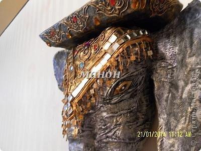 Мастер-класс Папье-маше МК по слону Бумага газетная Гипс фото 14