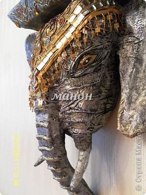 Мастер-класс Папье-маше МК по слону Бумага газетная Гипс фото 15
