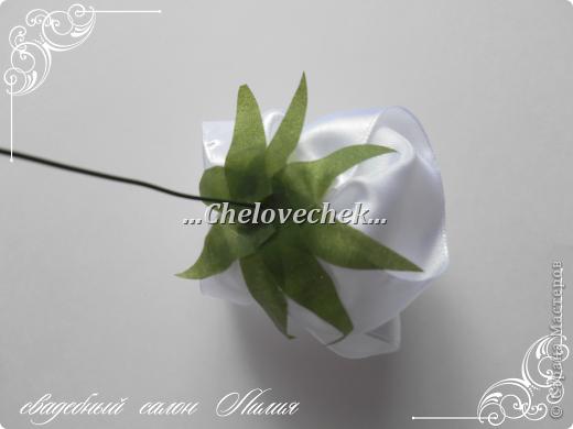 Мастер-класс Поделка изделие Свадьба Цумами Канзаши МК по свадебному букету много фото   Клей Ленты Фарфор холодный фото 13