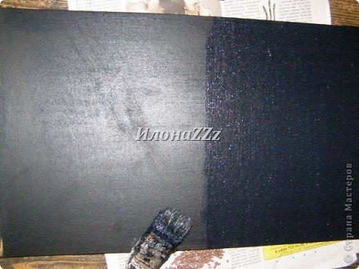 Мастер-класс Поделка изделие Грифельная доска МК Картон Краска фото 4